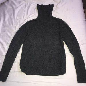 Uniqlo charcoal grey turtleneck cashmere sweater